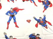 Superman Print Cotton Marvel Comics Fabric  Cream