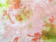 Floral Flock Print Cotton Voile Dress Fabric