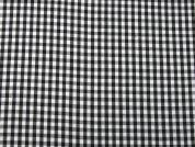 Gingham Print Polyester & Cotton Voile Dress Fabric  Black & White