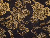 Woven Floral Wool Blend Coating Dress Fabric  Brown