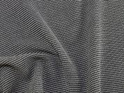 Wool Blend Woven Suiting Dress Fabric  Black & Ivory