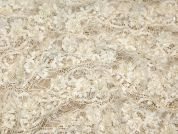 Emily Delicate Open Beaded Scallop Couture Bridal Lace Fabric  Ivory