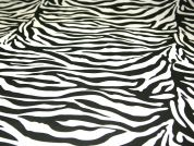 Zebra Animal Print Polycotton Dress Fabric  Black & White