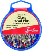 Sew Easy Glass Head Pins 38mm