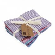 Sew Easy Fat Quarter Fabric Bundle  Pastel Gingham
