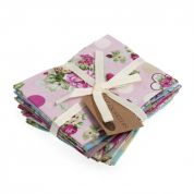 Sew Easy Fat Quarter Fabric Bundle  Roses and Dots