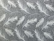 Feather Effect Sequin Couture Bridal Lace Fabric  Ivory
