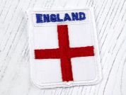 England Cross Shield Motifs  White & Red