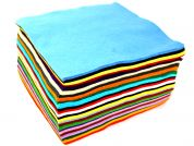Plain Wool & Viscose Felt Fabric Squares