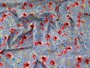 Floral Stretch Cotton Fabric  Multicoloured