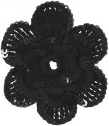 Simplicity Crochet Flower with Sequins Applique Accessory