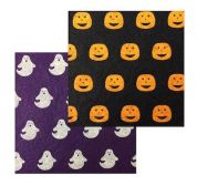 Assorted Halloween Print Designs Viscose & Wool Felt Fabric  Assorted Colours