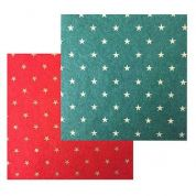 Assorted Star Print Designs Viscose & Wool Felt Fabric  Assorted Colours