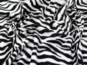 Animal Print Fleece Fabric  Black & White