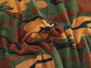 Camouflage Print Anti Pill Polar Fleece Fabric  Green & Brown