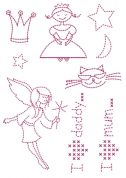 DMC Custom By Me Embroidery Transfer Magic Sheet Girls