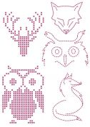 DMC Custom By Me Embroidery Transfer Magic Sheet Owls