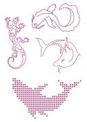DMC Custom By Me Embroidery Transfer Magic Sheet Dolphins