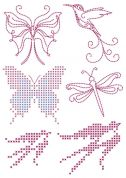 DMC Custom By Me Embroidery Transfer Magic Sheet Butterflies