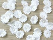 Miniature Beaded Flowers Couture Bridal Lace Appliques  Ivory