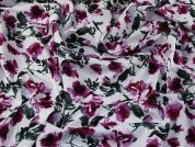 Floral Print Cotton Voile Dress Fabric  Pink