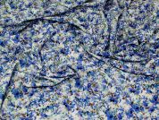 Florence Cotton Voile Fabric  Blue