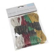 Trimits Metallic Christmas Embroidery Threads