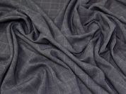Check Suiting Fabric  Grey