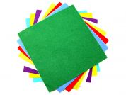 Sticky Back Self Adhesive Wool & Viscose Felt Fabric Squares  Assorted Colours