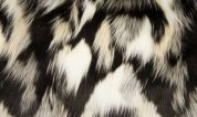 Fantasy Faux Fur Fabric  Black & Cream