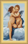 Luca-S Counted Petit Point Cross Stitch Kit First Kiss