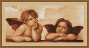 Luca-S Counted Petit Point Cross Stitch Kit Cherubs