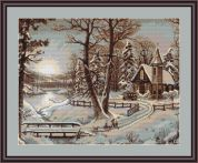 Luca-S Counted Petit Point Cross Stitch Kit Winter Landscape I