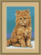 Luca-S Counted Petit Point Cross Stitch Kit Kitty