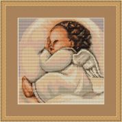 Luca-S Counted Petit Point Cross Stitch Kit Infant Sleeping