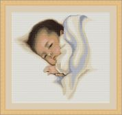 Luca-S Counted Petit Point Cross Stitch Kit Sleep Sweetly