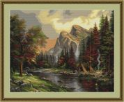 Luca-S Counted Petit Point Cross Stitch Kit Mountain Picnic
