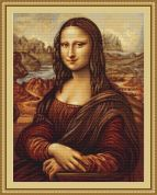 Luca-S Counted Petit Point Cross Stitch Kit Mona Lisa