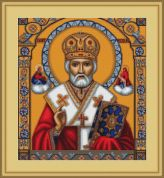 Luca-S Counted Petit Point Cross Stitch Kit St. Nicholas