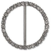 Impex Round Diamante Buckle  Silver