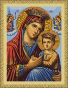 Luca-S Counted Petit Point Cross Stitch Kit Icon Mother & Child