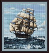 Luca-S Counted Petit Point Cross Stitch Kit Tall Ship II