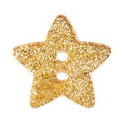 Impex Glitter Star Shaped Buttons