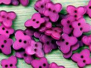 Impex Pearlised Butterfly Shape Buttons  Fuchsia Pink