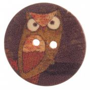 Impex Round Owl Patterned Buttons