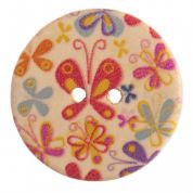 Impex Round Butterfly Patterned Buttons