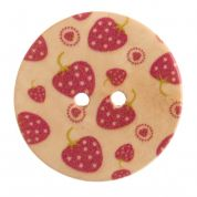Impex Round Strawberry Patterned Buttons