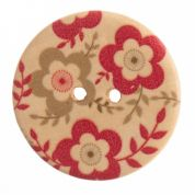 Impex Round Floral Patterned Buttons
