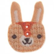 Impex Woodland Bunny Embroidered Buttons