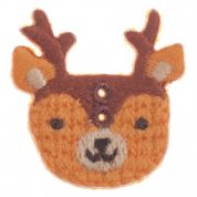 Impex Woodland Deer Embroidered Buttons